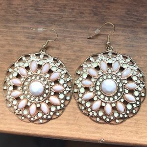 Accessories - Large circle earrings.